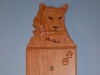 Custom Hand Carved Cougar Light Switch Cover