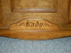 Custom Carving on Cedar Chest