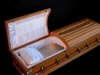 Custom Built and Carved Casket Open