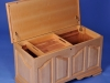 Tiger Striped Maple Custom Built Cedar Chest Open
