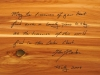 Hand Carved Personal Inscription