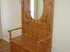 Custom Built and Carved Bench unit
