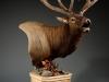 Right Elk Carved Pedestal