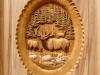Elk Pedestal Custom Carved Panel