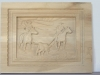 Carving of Team Roping