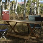 folding picnic table image
