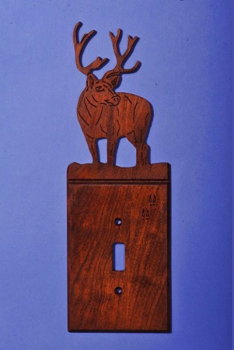 Custom Mule Deer Light Switch Cover