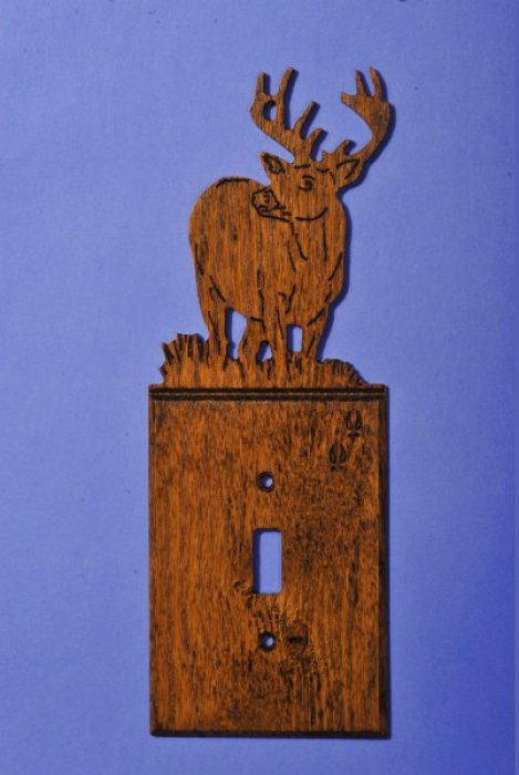 Custom White Tail Deer Light Switch Cover