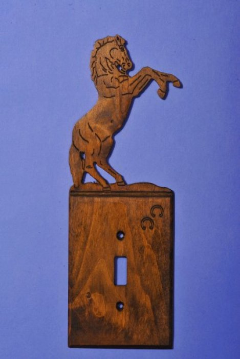 Custom Horse Light Switch Cover