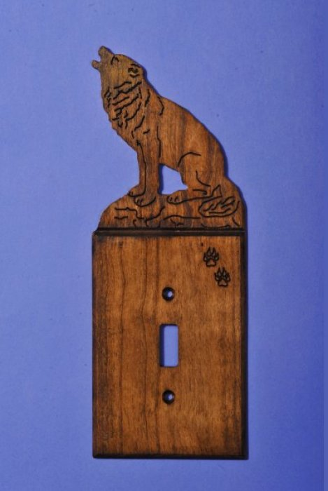 Custom Wolf Light Switch Cover