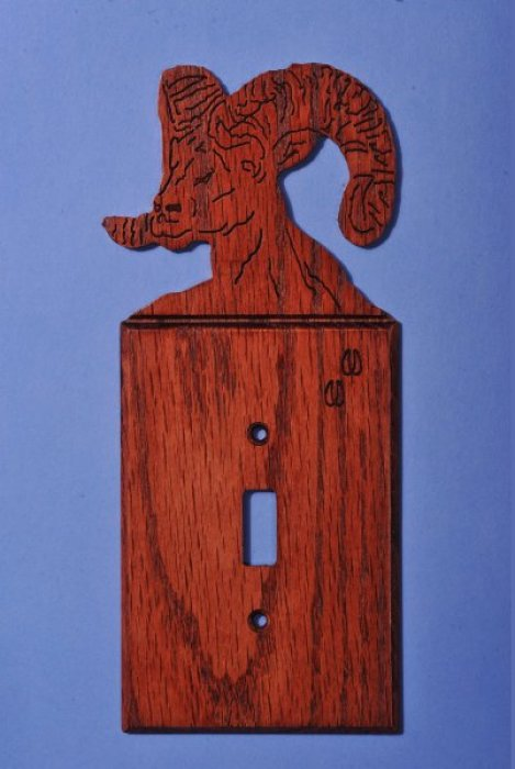 Custom Desert Big Horn Light Switch Cover