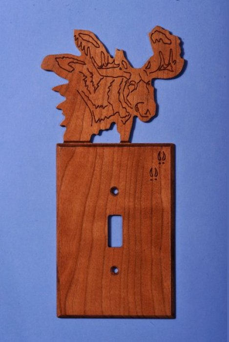 Custom Moose Light Switch Cover