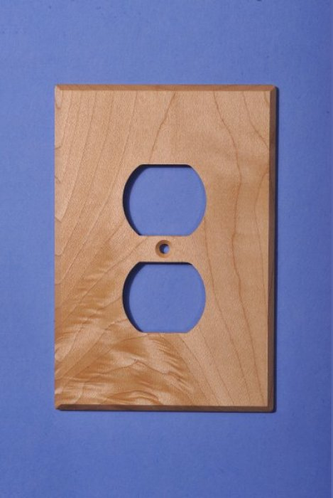 Custom Maple Electrical Cover Plates