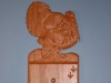 Custom hand Carved Turkey Light Switch Cover