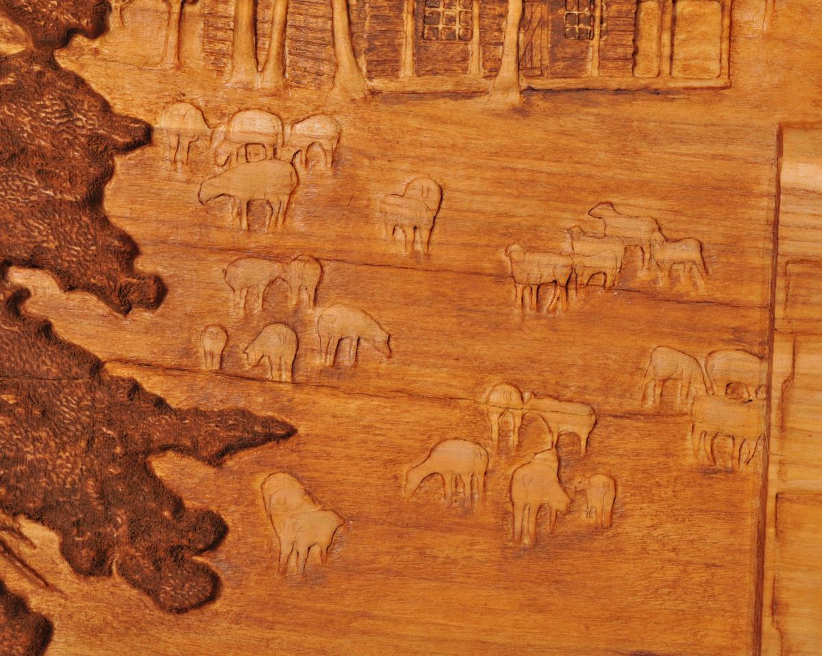 Carving of Sheep at Sheep Camp