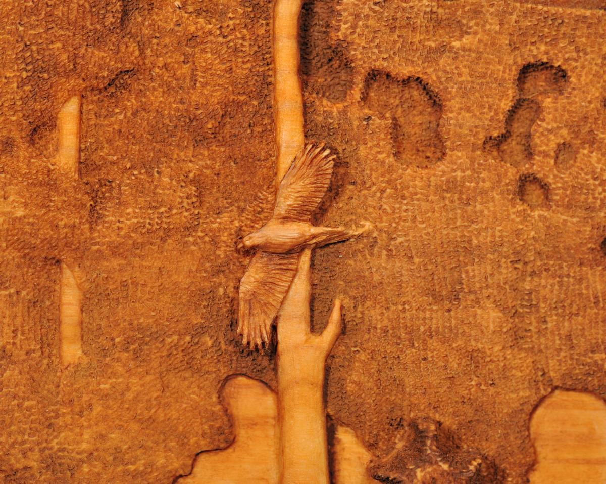 Carving of Hawk at Sheep Camp