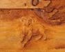 Carving of Dog1 at Sheep Camp