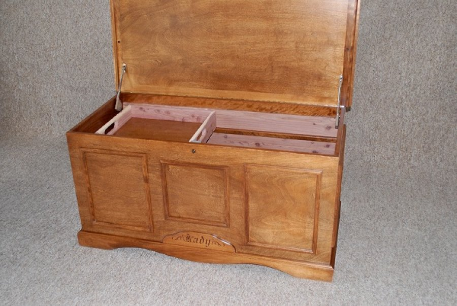 Custom Cedar Chest Open