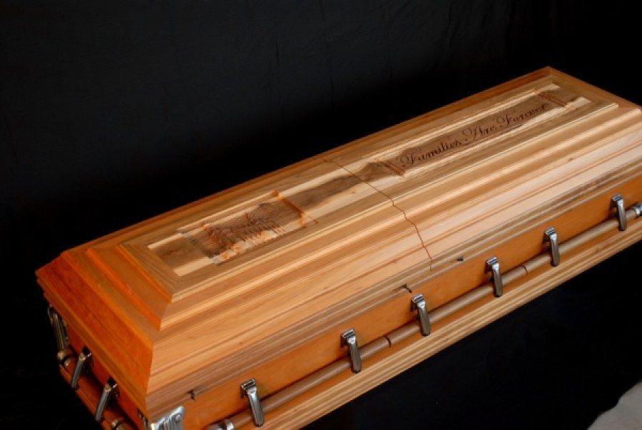 Custom Built and Carved Casket