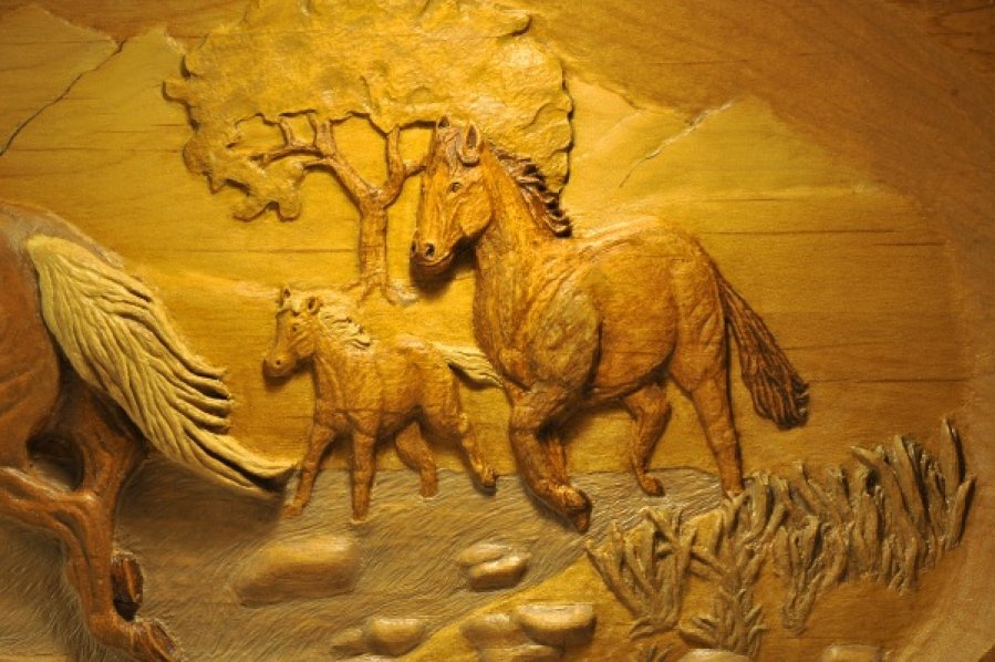 Carved horses 3