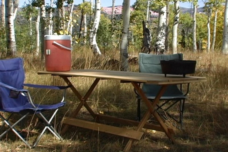 Folding Picnic Table at the camp ground