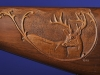 Close Up on Carved White Tail Deer
