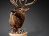 Left Elk Carved Pedestal