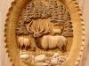 Up Close to Elk Pedestal Custom Carved Panel
