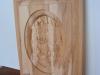 Carved Elk Panel before completed