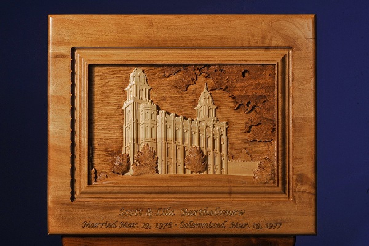 Custom Carved LDS Manti Temple