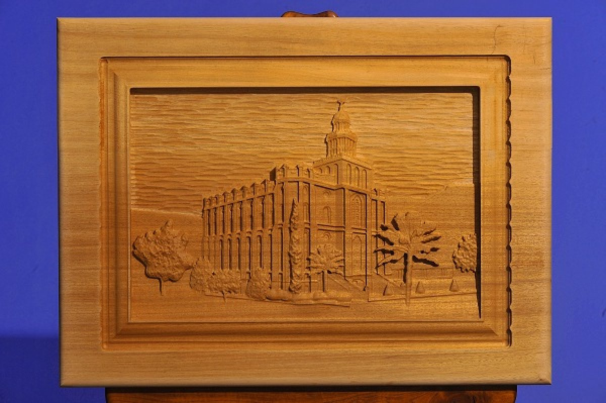 Custom Carved LDS St George Temple
