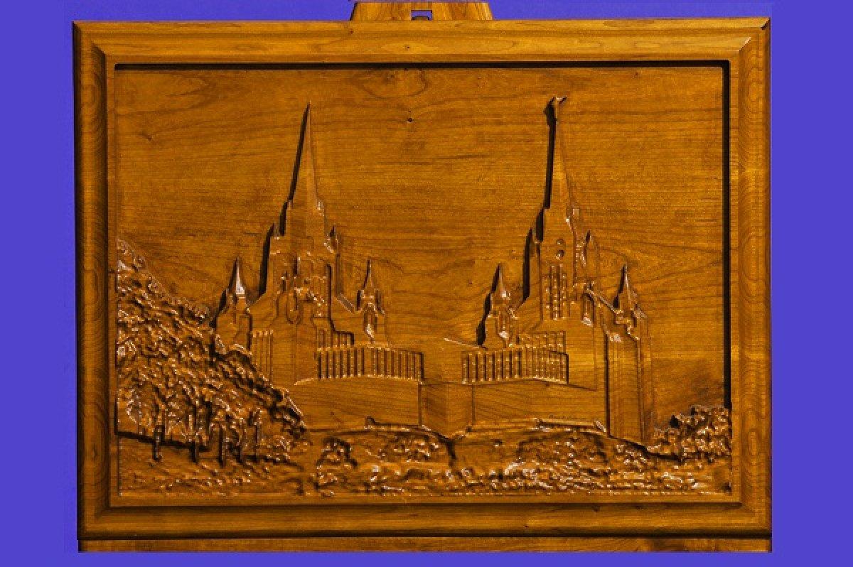Custom Carved LDS San Diego Temple