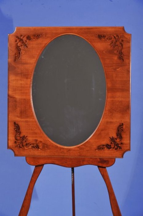 Carved cornered mirror